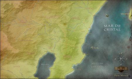 Mapa de la Tierra de Brennan. Dyss Mítica