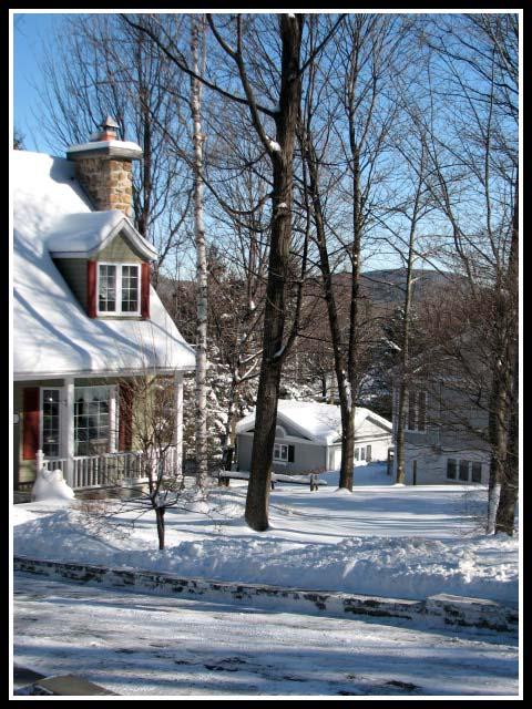 Casas nevadas en Canadá