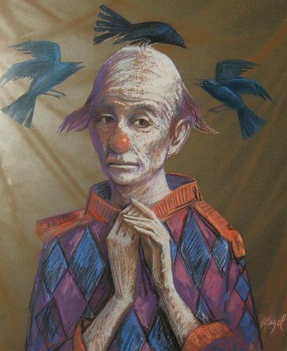 """Cuadro de Bartolomé Mayol para el texto en Lavondyss """"Los pájaros de Sherbrooke"""""""
