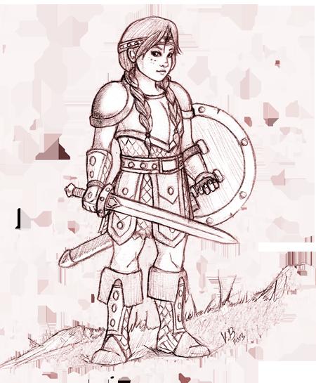 Niña guerrera para Magissa. Por Virginia Berrocal