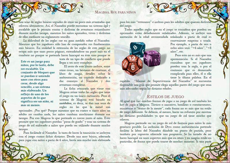 Páginas maqueta de Magissa
