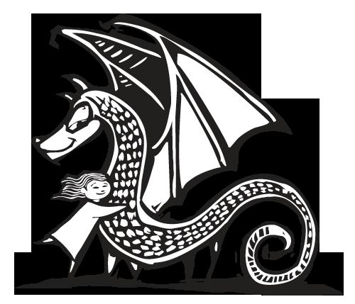 Niña y dragón